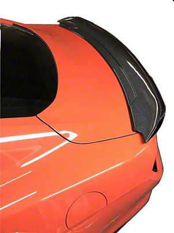 Icon Composites GT350 Look TrueFit Low Rise Rear Spoiler - Carbon Fiber (15-19 Fastback)
