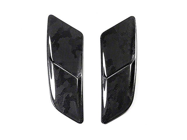 Icon Composites OEM TrueFit Heat Extractor Hood Scoops - Camo Carbon Fiber (15-17 GT)