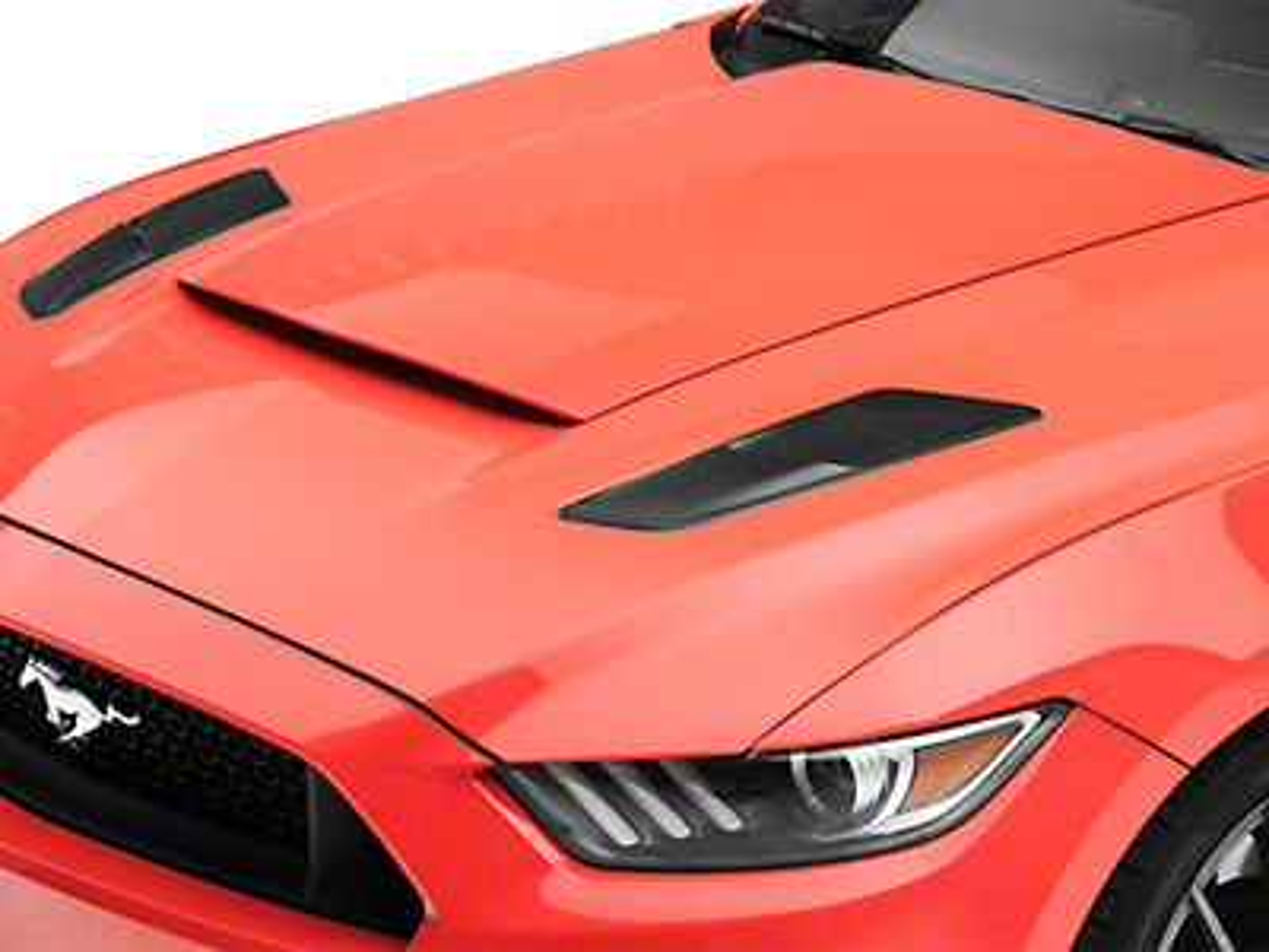 Icon Composites OEM TrueFit Heat Extractor Hood Scoops - Carbon Fiber (15-17 GT)