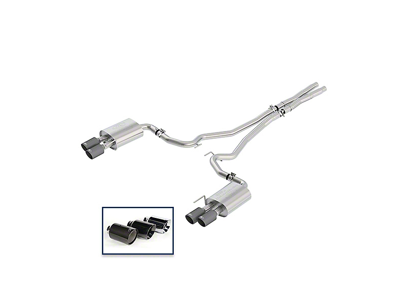 Ford Performance by Borla Touring Cat-Back Exhaust w/ Carbon Fiber Tips (18-20 GT w/o Active Exhaust)