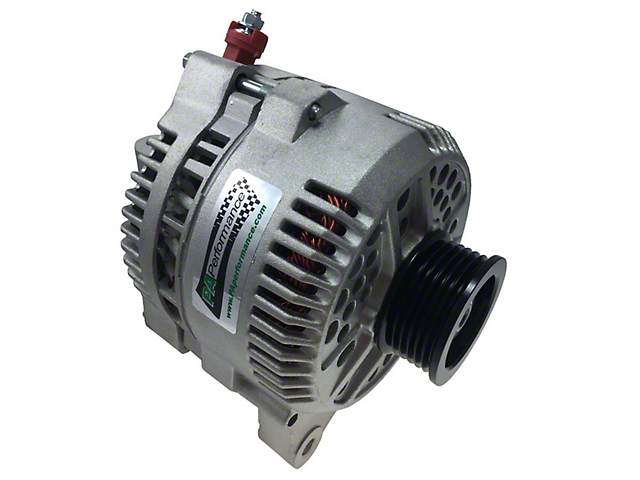 PA Performance High Output Alternator; 200 Amp; Flat Black (96-98 GT)