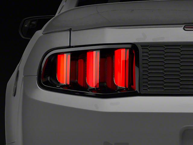 Raxiom Vector V2 LED Tail Lights; Gloss Black Housing; Clear Lens (10-12 All)