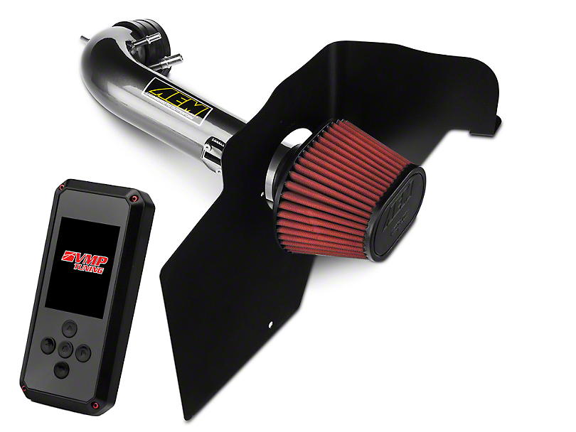 AEM Gunmetal Brute Force Cold Air Intake & VMP Rev-X Tuner (15-17 GT Stock or w/ Bolt-On Mods)