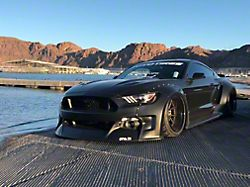 Clinched Flares Widebody Kit; Unpainted (15-17 Fastback, Excluding GT350)