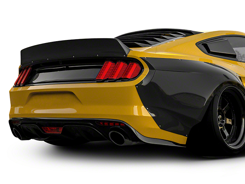 Clinched Flares Ducktail Rear Spoiler - Unpainted (15-19 Fastback)