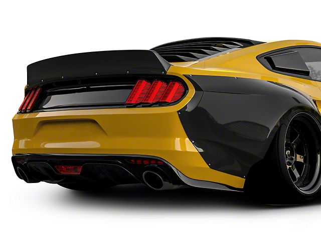 Clinched Flares Ducktail Rear Spoiler - Unpainted (15-20 Fastback)