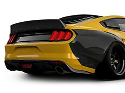 Clinched Flares Ducktail Rear Spoiler; Unpainted (15-21 Fastback)