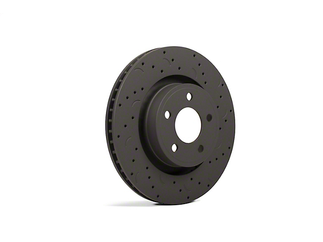 Hawk Performance Talon Cross-Drilled and Slotted Rotors; Rear Pair (05-14 All, Excluding 13-14 GT500)