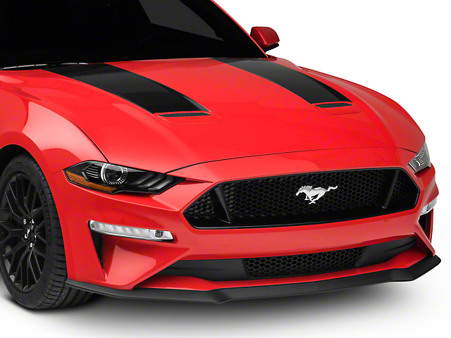 SEC10 Hood Stripes; Black (18-20 GT, EcoBoost)