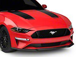 SEC10 Hood Stripes; Black (18-21 GT, EcoBoost)