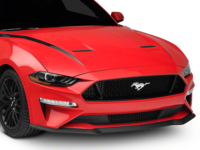 SEC10 Hood Accent Decal; Black (18-21 GT, EcoBoost)