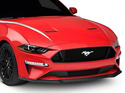 SEC10 Hood Accent Decal; Silver (18-21 GT, EcoBoost)