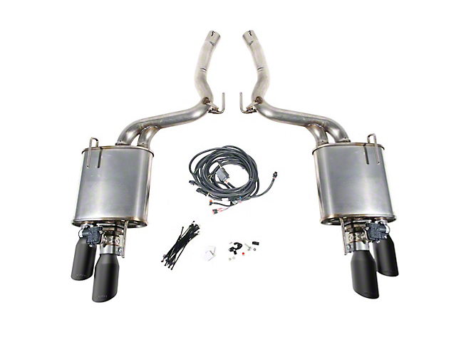 Roush Active Lite iO Axle-Back Exhaust w/ Black Tips (18-19 GT w/o Active Exhaust)