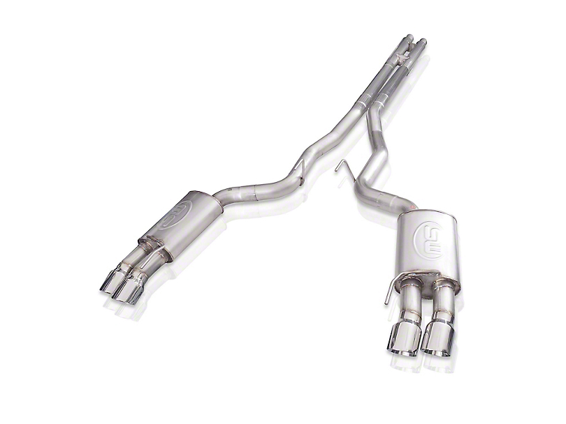 Stainless Works Redline Series Cat-Back Exhaust with H-Pipe; Factory Connect (18-20 GT Fastback w/o Active Exhaust)