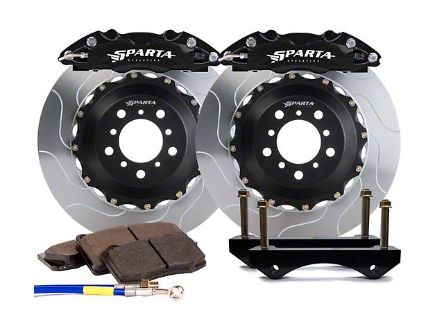 Sparta Evolution Triton Rear Big Brake Kit; Black Calipers (15-21 All)