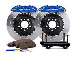 Sparta Evolution Triton Rear Big Brake Kit; Signature Blue Calipers (15-21 All)
