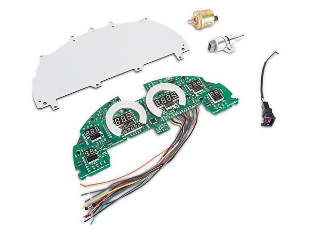 Raxiom LED Digital Gauge Panel; Red (94-04 All)