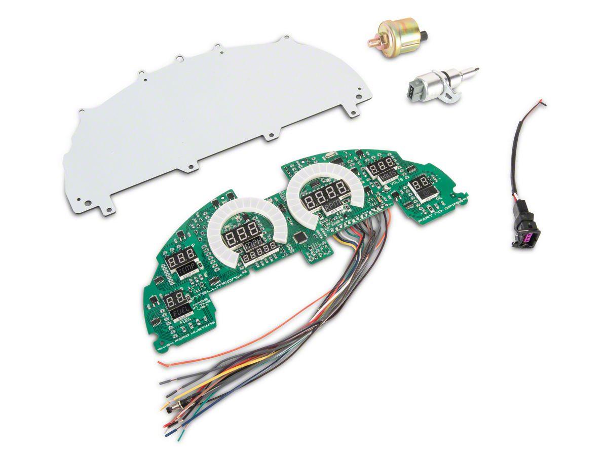 Raxiom LED Digital Gauge Panel - Red (94-04 All)