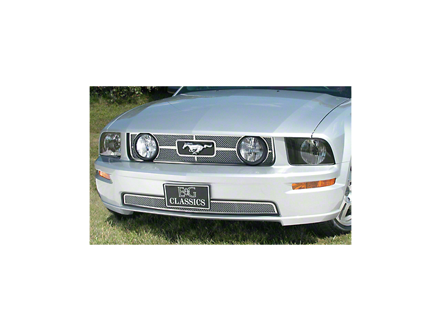Heritage Style Grille; Polished (05-09 GT)