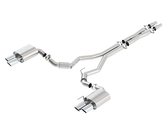 Borla Stinger S-Type Cat-Back Exhaust w/ Chrome Tips (18-20 GT Fastback w/o Active Exhaust)