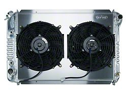 Cold Case Aluminum Performance Radiator with Dual 12-Inch Fans; 1.25-Inch Tubes (87-93 5.0L w/ Manual Transmission)