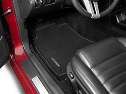 Ford Performance Front Floor Mats with Mustang Logo; Black (05-09 All)