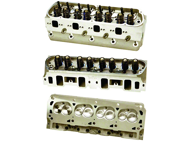 Ford Performance 302/351W Z-Head Assembled Aluminum Cylinder Head with 7mm Valves; 63cc