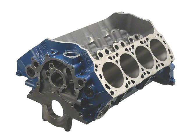 Ford Performance BOSS 351 Big Bore Engine Block; 9.50-Inch Deck
