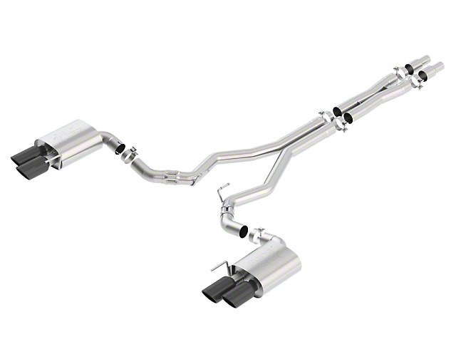 Borla ATAK Cat-Back Exhaust with Black Chrome Tips (18-20 GT Fastback w/o Active Exhaust)