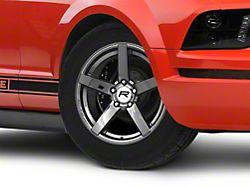 Rovos Durban Drag Black Chrome Wheel; Front Only; 17x4.5 (05-09 All)