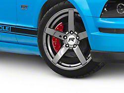 Rovos Durban Drag Black Chrome Wheel; Front Only; 17x4.5 (10-14 All)