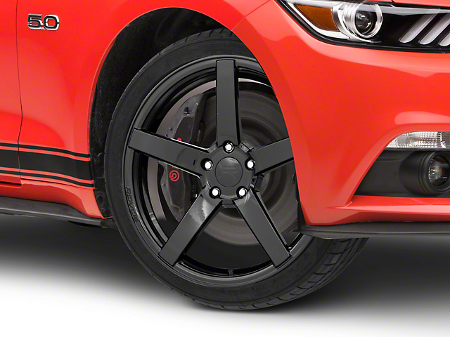 Rovos Durban Gloss Black Wheel; 19x8.5 (15-21 GT, EcoBoost, V6)