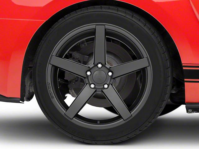 Rovos Durban Satin Black Wheel; Rear Only; 19x10 (15-20 GT, EcoBoost, V6)