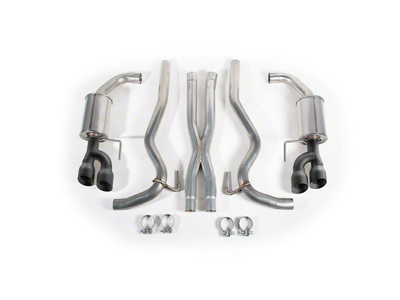 Roush Cat-Back Exhaust w/ Black Tips (18-20 GT Fastback w/o Active Exhaust)