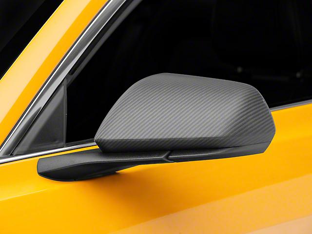 SpeedForm Mirror Covers; Matte Carbon (15-21 w/o Mirror Signals)