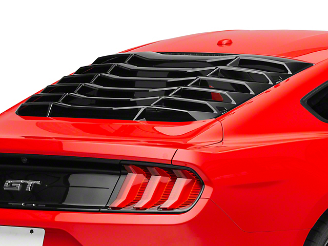 MP Concepts Rear Window Louvers; Gloss Black (15-20 Fastback)