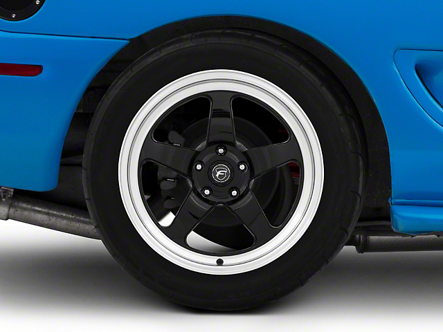 Forgestar D5 Drag Black Machined Wheel - 18x10 - Rear Only (94-04 All)