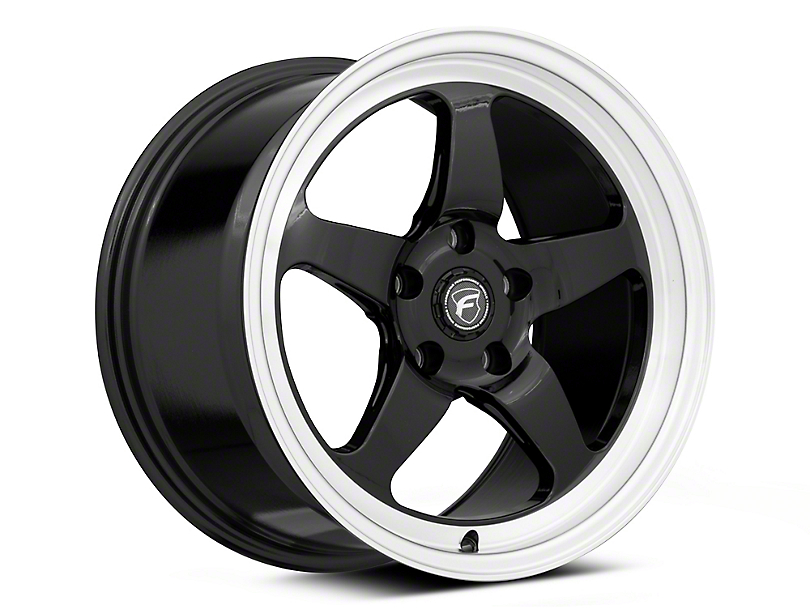 Forgestar D5 Drag Black Machined Wheel - 18x9 - Rear Only (05-09 All)