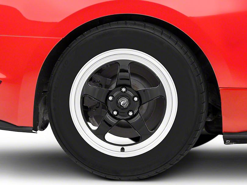 Forgestar D5 Drag Black Machined Wheel - 17x10 - Rear Only (15-19 GT, EcoBoost, V6)