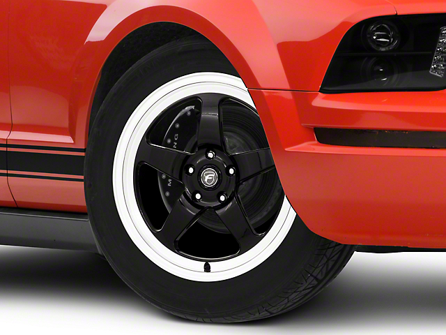 Forgestar D5 Drag Black Machined Wheel - 18x5 - Front Only (05-14 All)