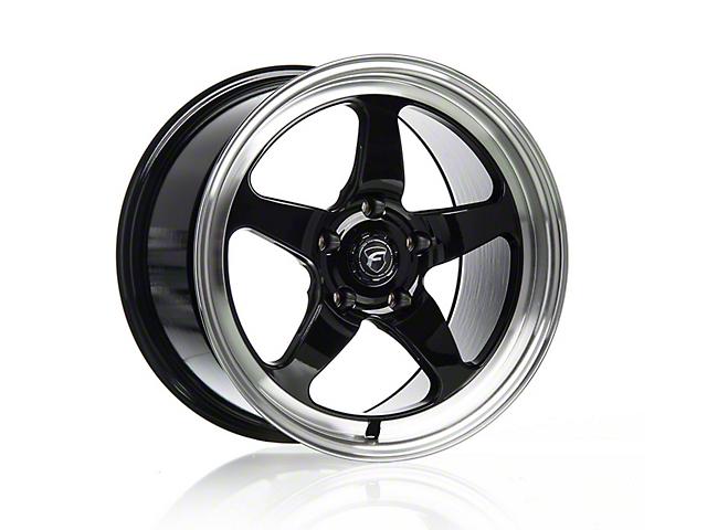 Forgestar D5 Drag Black Machined Wheel - 18x9 - Rear Only (15-19 GT, EcoBoost, V6)