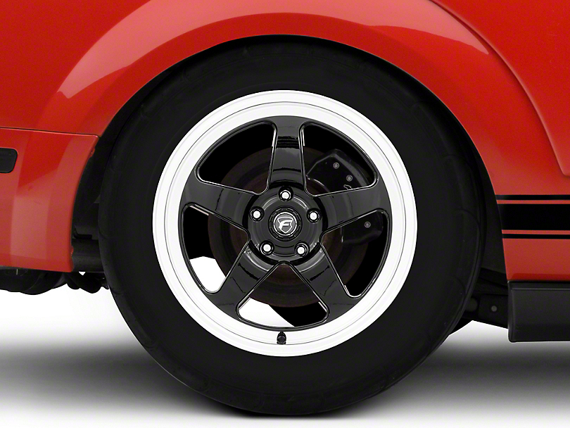 Forgestar D5 Drag Black Machined Wheel - 18x11 - Rear Only (05-14 All)