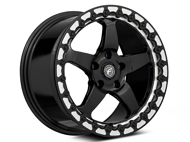 Forgestar D5 Beadlock Drag Black Machined Wheel - 17x10 - Rear Only (05-09 All)