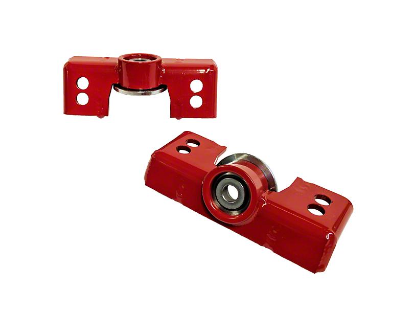 J&M Rear Upper Shock Mounts for Ohlins Shocks; Red (15-20 All)