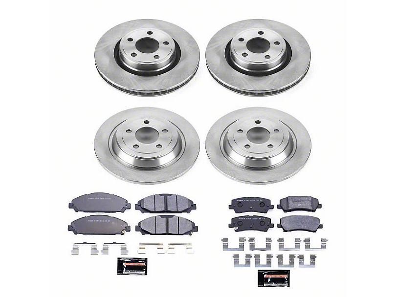 Power Stop Track Day Brake Rotor & Pad Kit - Front & Rear (15-20 V6, Standard EcoBoost)
