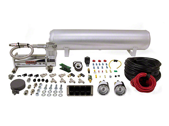 Air Lift Performance 4-Way Manual Complete Air Suspension Kit; 1/4-Inch Lines (94-04 All, Excluding 99-04 Cobra)