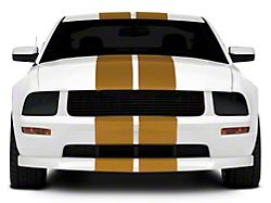 SEC10 GT500 Style Stripes; Gold; 10-Inch (05-14 All)