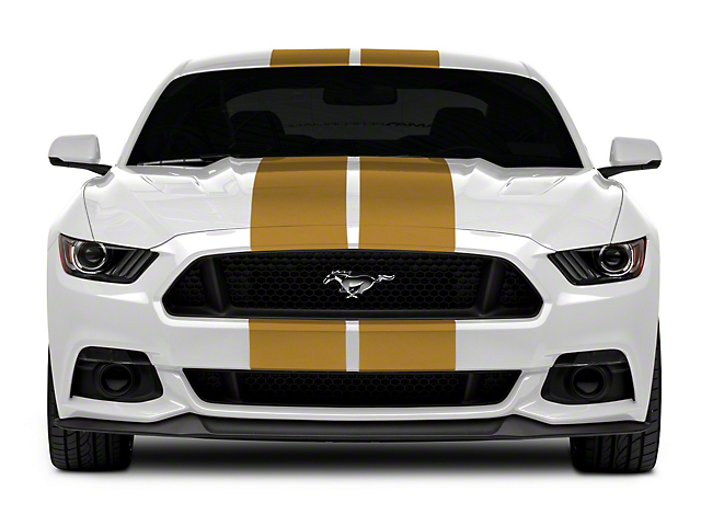 SEC10 GT500 Style Stripes; Gold; 10-Inch (15-20 All)