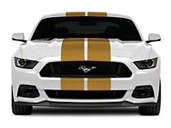 SEC10 GT500 Style Stripes; Gold; 10-Inch (15-21 All)