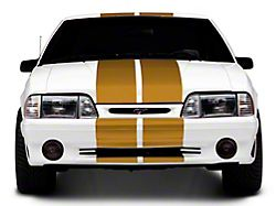 SEC10 GT500 Style Stripes; Gold; 10-Inch (79-93 All)